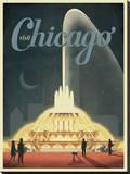 Visit Chicago Impressão em tela esticada por  Anderson Design Group