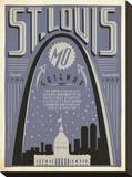 St. Louis, Missouri: Gateway City Stretched Canvas Print by  Anderson Design Group