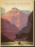 Parque Nacional do Grand Canyon Impressão em tela esticada por  Vintage Reproduction