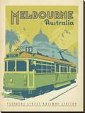 Melbourne, Australia Impressão em tela esticada por  Anderson Design Group