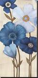 Fleurs Bleues I Stretched Canvas Print by  Maja