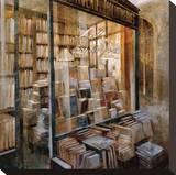 Librairie Reproduction transférée sur toile par Noemi Martin