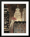 Manhattan Illuminated Framed Giclee Print by Paulo Romero