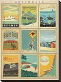 Australia Multi Print Impressão em tela esticada por  Anderson Design Group