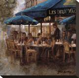 Les Deux Magots Stretched Canvas Print by Noemi Martin