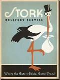 Stork Delivery Service (Blue) キャンバスプリント :  Anderson Design Group
