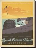 Tour The Majestic Great Ocean Road, Australia Impressão em tela esticada por  Anderson Design Group