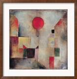 Roter Ballon, 1922 Gerahmter Giclée-Druck von Paul Klee