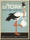 Stork Delivery Service (Blue) Impressão em tela esticada por  Anderson Design Group