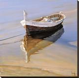Barcas Descansando Stretched Canvas Print by Jaume Laporta