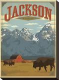 Jackson, Wyoming Impressão em tela esticada por  Anderson Design Group