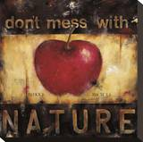Don't Mess with Nature Stretched Canvas Print by Wani Pasion