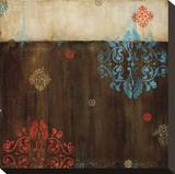 Damask Patterns II Stretched Canvas Print by Wani Pasion