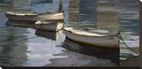 El Descanso de las Tres Barcas Stretched Canvas Print by Poch Romeu