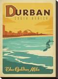 Durban, South Africa: The Golden Mile Impressão em tela esticada por  Anderson Design Group
