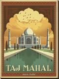 Taj Mahal, India Impressão em tela esticada por  Anderson Design Group