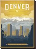 Denver: The Mile High City Impressão em tela esticada por  Anderson Design Group