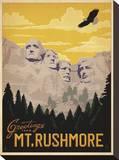 Greetings from Mt. Rushmore Impressão em tela esticada por  Anderson Design Group