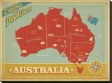 Explore Australia, The Land Down Under Impressão em tela esticada por  Anderson Design Group