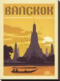 Bangkok, Thailand Impressão em tela esticada por  Anderson Design Group