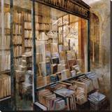 Librairie Stretched Canvas Print by Noemi Martin