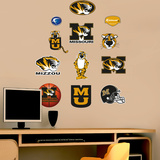 NCAA Missouri Tigers - Team Logo Assortment Wall Decal Sticker Wallstickers