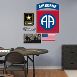 US Army 82nd Airborne Insignia Logo Wall Decal Sticker Kalkomania ścienna