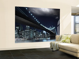 Brooklyn Bridge at Night Wallpaper Mural