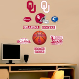 NCAA Oklahoma Sooners - Team Logo Assortment Wall Decal Sticker Wall Decal