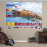 Swimming Ryan Lochte Closeup Mural Decal Sticker Wall Decal