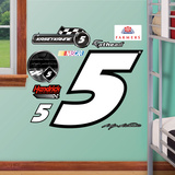 Nascar Kasey Kahne 5 Logo Junior Wall Decal Sticker Wall Decal