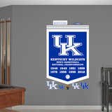 NCAA Kentucky Wildcats Basketball Championships Banner Wall Decal Sticker Wall Decal
