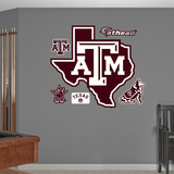 NCAA Texas A&M Aggies Lonestar Logo Wall Decal Sticker Wallstickers