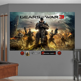 Gears Of War 3 Cover Mural Decal Sticker Wall Mural