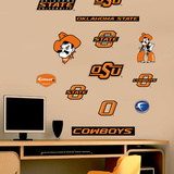 NCAA Oklahoma State Cowboys - Team Logo Assortment Wall Decal Sticker Wall Decal