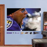 NFL Baltimore Ravens Ray Lewis Scream Mural Decal Sticker Wall Decal