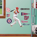Washington Nationals Bryce Harper Jr 2012 Wall Decal Sticker Vinilo decorativo