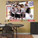 NHL Chicago Blackhawks Chicago Blackhawks 2013 Stanley Cup Celebration Mural Decal Sticker Wall Decal