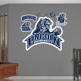 NCAA Lincoln Blue Tigers Logo Wall Decal Sticker Wall Decal