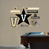 NCAA Vanderbilt 2012 Logo Wall Decal Sticker Wall Decal