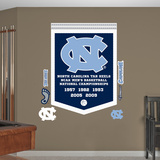 NCAA North Carolina Tar Heels Basketball Championships Banner Wall Decal Sticker Wall Decal
