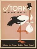 Stork Delivery Service (Pink) Impressão em tela esticada por  Anderson Design Group