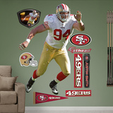 NFL San Francisco 49ers Justin Smith Wall Decal Sticker Wall Decal