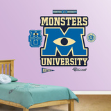 Monsters University Real.Big Logo Wall Decal Sticker Wall Decal