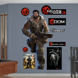 Gears Of War 3 Dom Wall Decal Sticker Wall Decal