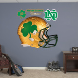 NCAA Notre Dame Shamrock Helmet Wall Decal Sticker Wallstickers