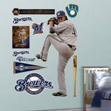 Milwaukee Brewers Yovani Gallardo - Pitcher Wall Decal Sticker Wall Decal