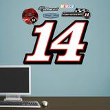 Nascar Tony Stewart #14 Logo Junior Wall Decal Sticker Mode (wallstickers)