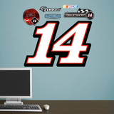Nascar Tony Stewart 14 Logo Junior Wall Decal Sticker Wall Decal