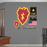 US Army 25th Infantry Insignia Logo Wall Decal Sticker Kalkomania ścienna